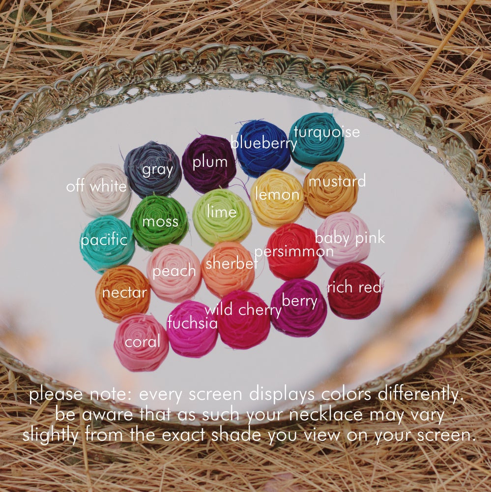Image of original modern pearl rosette statement necklace {choose your color}