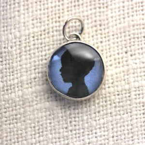 Image of 12 mm Your Child's Silhouette Charm You Choose Color