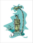 "Image of ""MARQUESAN MONKEY"" Serigraph by Tiki Tony"