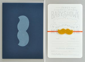 Image of Mustache Baby Shower Invitation