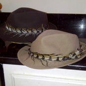 Image of Wool Fedora w/Pheasant Tail Feather