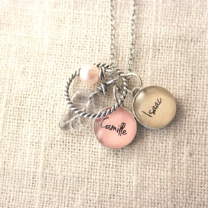 Image of Two 12 mm Charm Cluster Necklace - You Choose Options