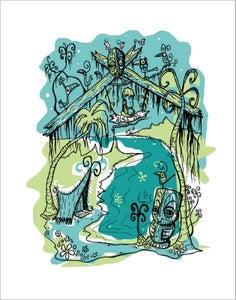 "Image of ""ALOHA NUI"" Serigraph by Tiki Tony"