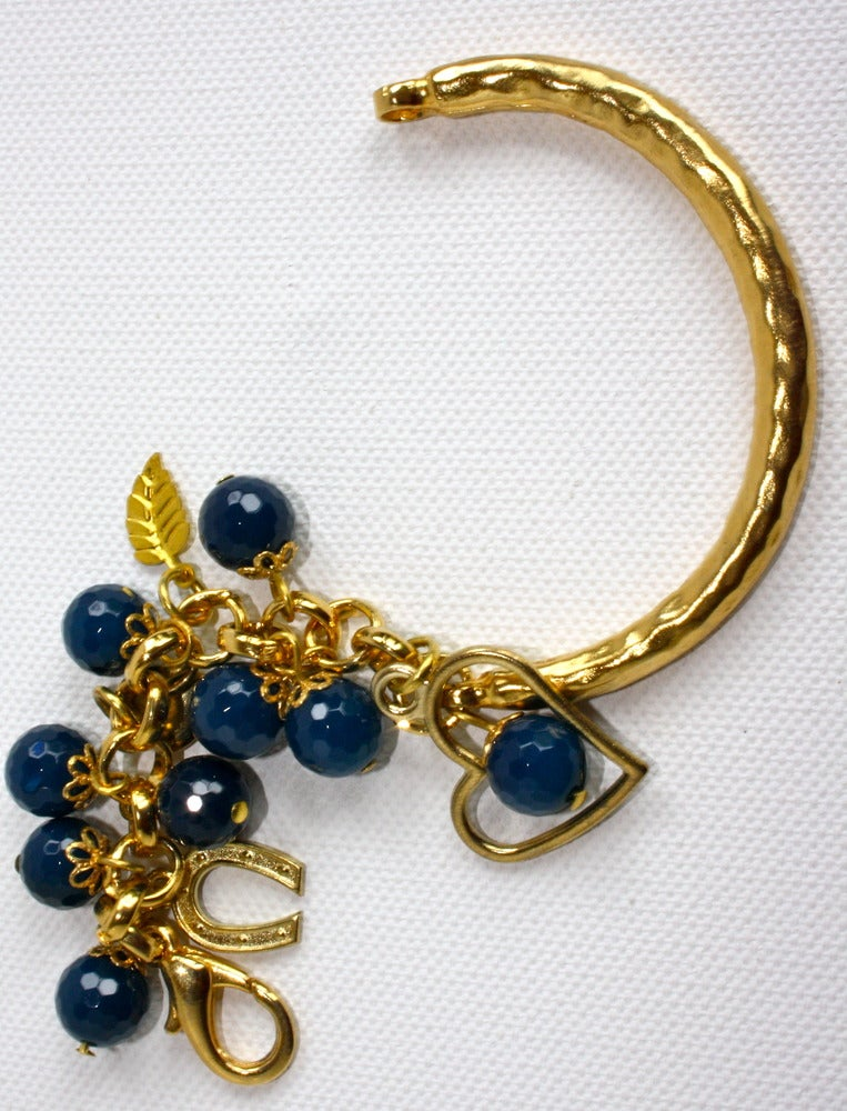 Image of Golden blue heart