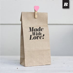 Image of Plain Kraft Gusset Paper Bag