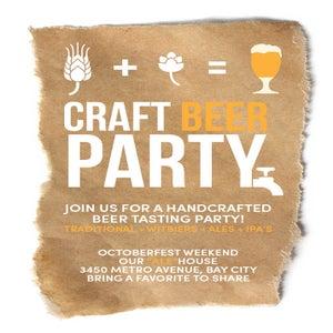 Image of Craft Beer Invitation (Octoberfest)