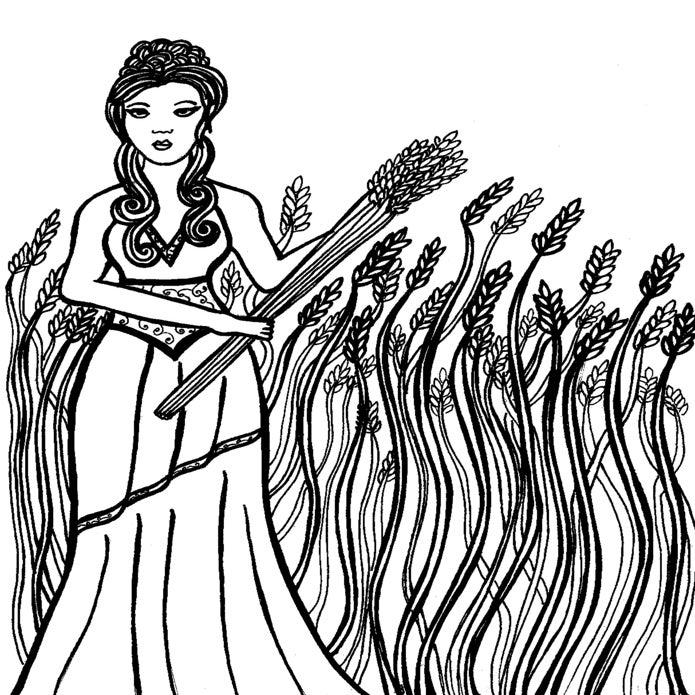 demeter greek goddess drawing - photo #19