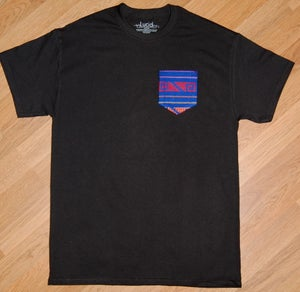Image of Blue Patterned Mexican Pocket Tee
