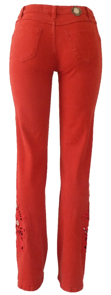 Image of Red Richelieu Jeans 11S2352P