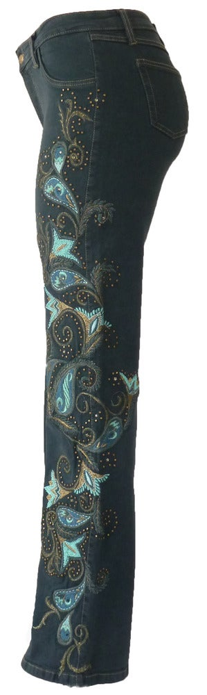 Image of Teal 'Carnival' Jeans 12W121P