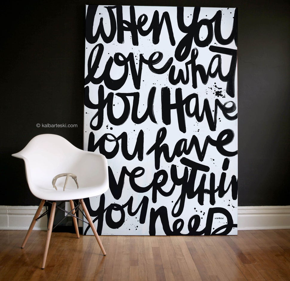 Image of WHEN YOU LOVE painting