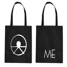 Image of ME logo tote bag (black)