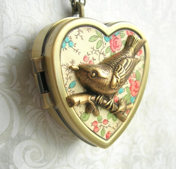 Image of Little Wing Miniature Music Box Locket