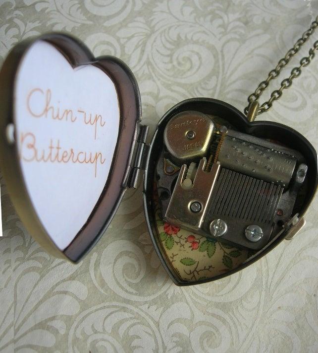 Image of Little Wing Miniature Music Box Locket