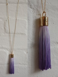 Image of SMALL DIP DYED TASSEL NECKLACE