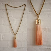 Image of LARGE DIP DYED TASSEL NECKLACE