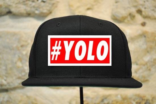 yoloapparel — #YOLO Logo Snapback Red.