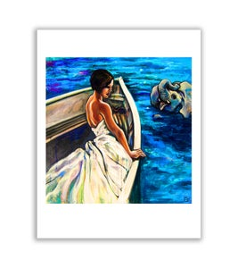 """Image of Nile Boat Ride - 12"""" x 12"""" high quality print"""