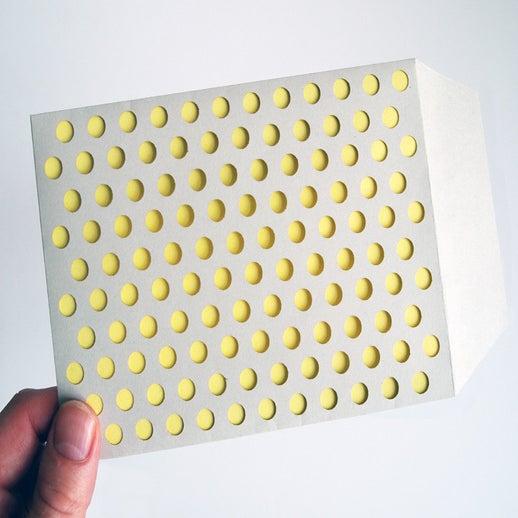 Die Cut Bubble Wrap Envelopes Grey Yellow Cut Make