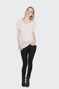 Image of Salome Vneck - White
