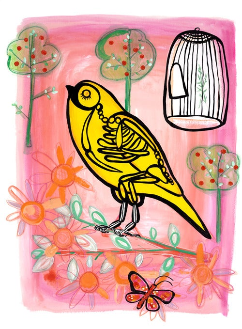 Image of The Happy Warbler Print