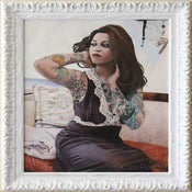 Image of Chantal in Vintage Pucci Framed Original Painting 20x24