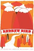 Image of Andrew Bird Ashville NC Silkscreen Poster
