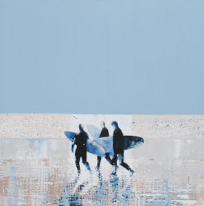 Image of Summer Blue and Surfers, Fistral Beach, Cornwall
