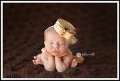 Image of 1960's Organic Acacia Pillbox Hat for Newborn Portraiture