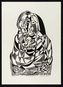 "Image of ""Las Ancianas"" - Lithograph of Women"