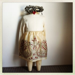 Image of Embroidered Bird Skirt