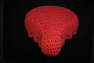 Image of Crochet Bike Seat Cover