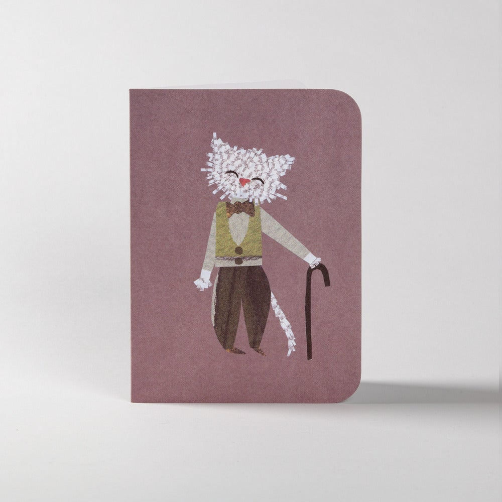 Image of 5 Grandpa Cat Greeting Cards