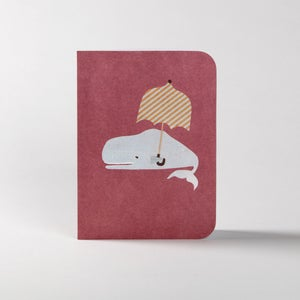 Image of 5 Rainy Whale Greeting Cards
