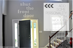 Image of Shut the front door Foyer Sign