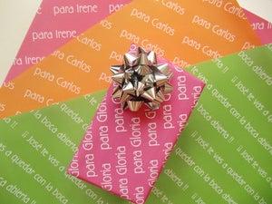 Image of Papel de regalo personalizado