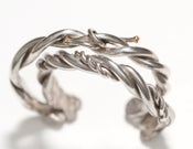 Image of Plain Sterling Twisted Wire Cuff for her