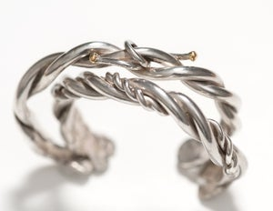 Image of Plain Sterling Twisted Wire Cuff for him