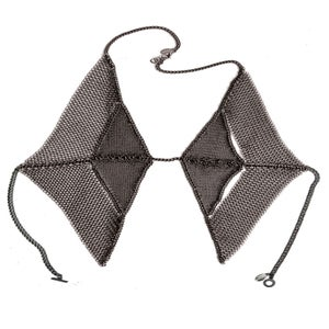 Image of Diamond chainmaille vest-front harness