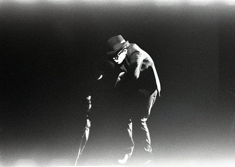 Image of Tom Waits On Stage Early 1980's