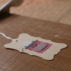Image of 6 Typewriter Gift Tags