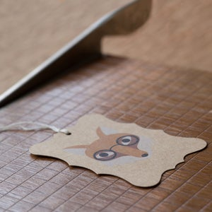 Image of 6 Fox Gift Tags