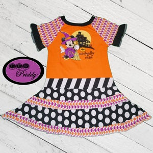 Image of **SOLD OUT** Minnie Mouse Wickedly Cute double ruffle dress- size 5/6