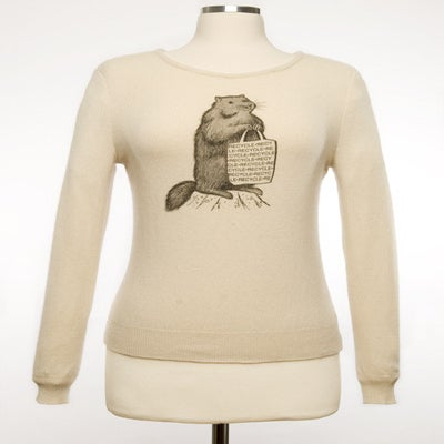 "Image of ""Mr. Chuck"" Womens Cashmere Sweater - Cream"