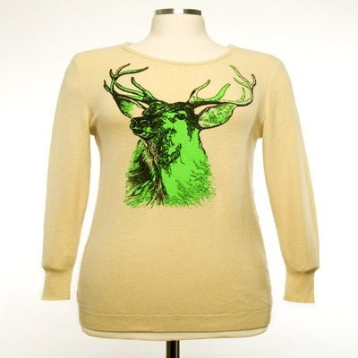 "Image of ""Buck"" Womens Cashmere Sweater - Pale Yellow"