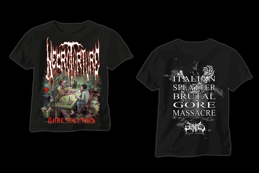 Necrotorture gore solution t shirt for Big cartel t shirts