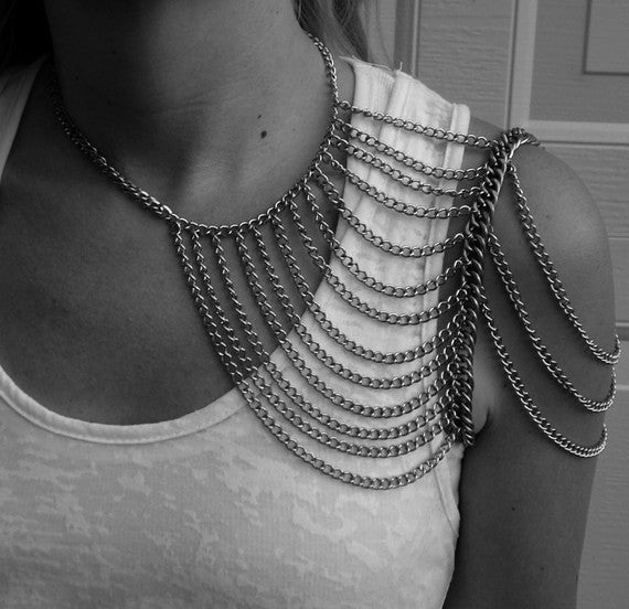 Silver Multi-Chain Shoulder Harness / SNEFTER