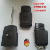 Image of Entire  Key FOB Shell Square Button Design Fits:vw