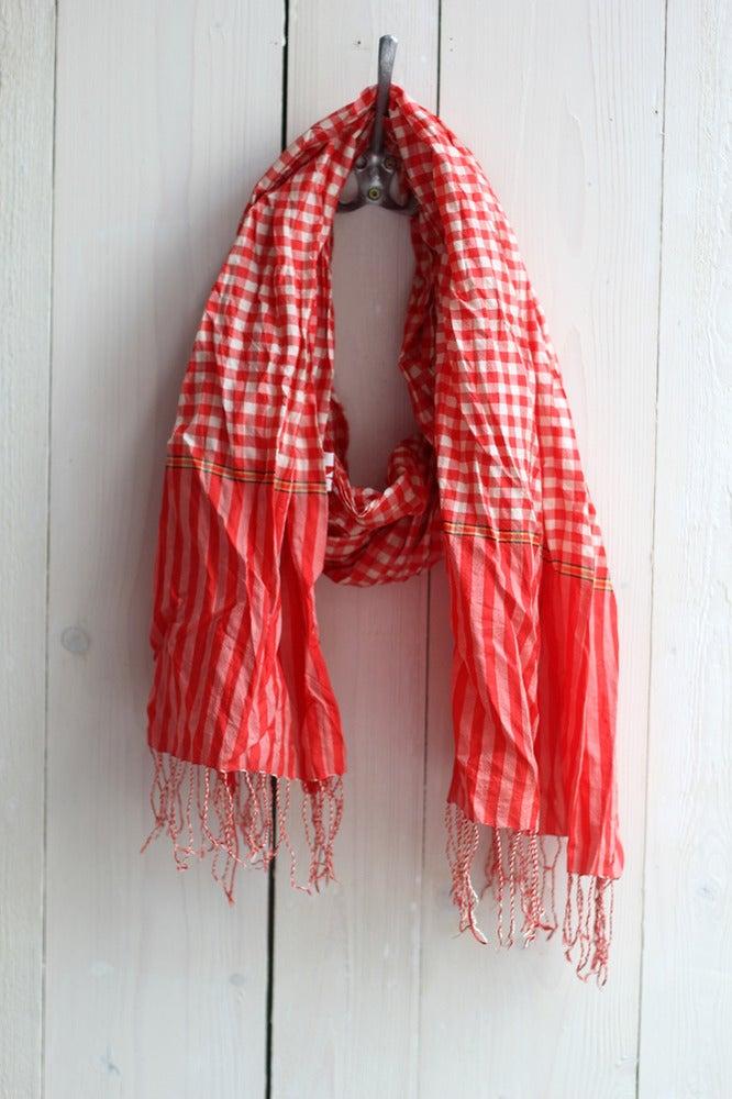 Image of Schal aus Seide · Wiesen Rot