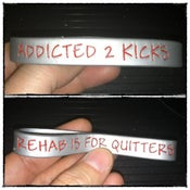 Image of Addicted 2 Kicks Wristband